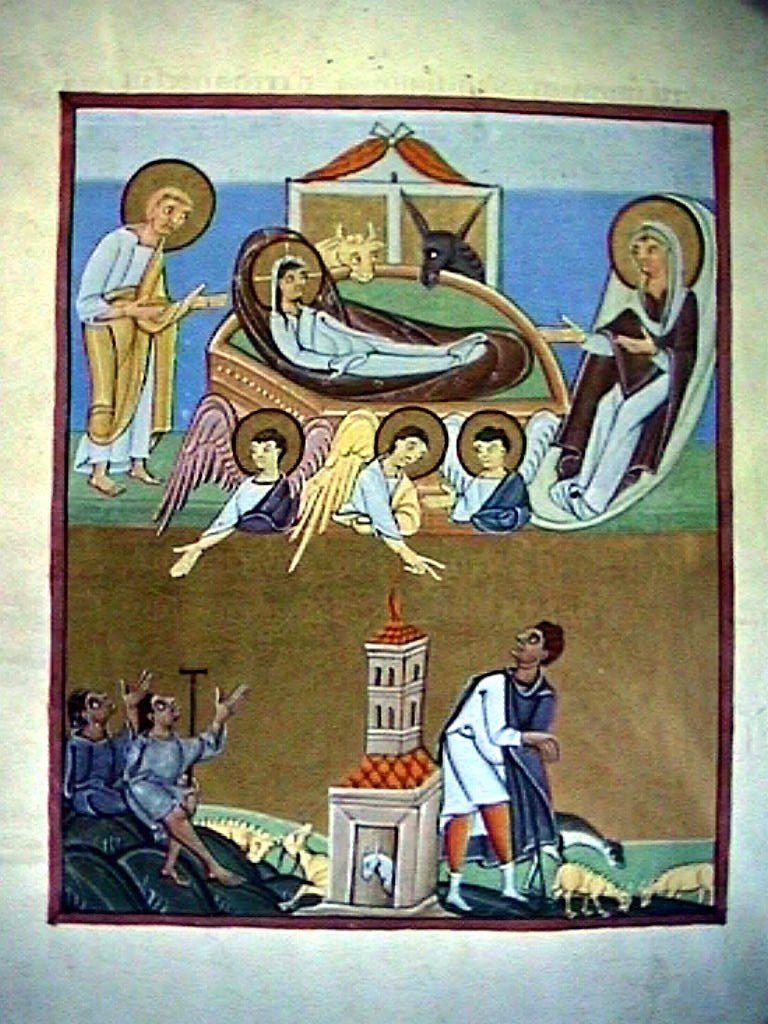 Anunciación - Natividad. Apocalipsos de Bamberg (Wk. Commons).Anunciación – Natividad. Apocalipsos de Bamberg (Wk. Commons).